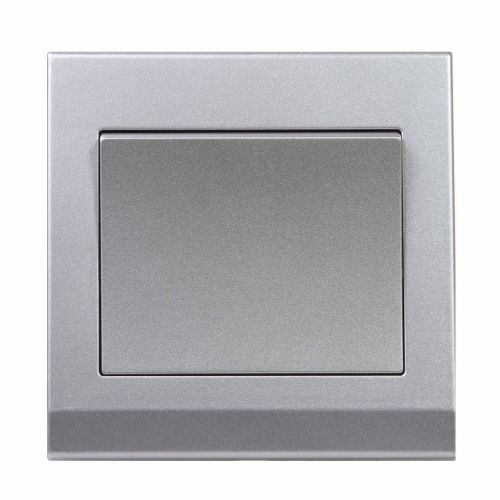 Simplicity Grey Screwless Rocker Light Switch 1 Gang 1 Way Pulse/Retractive 07082